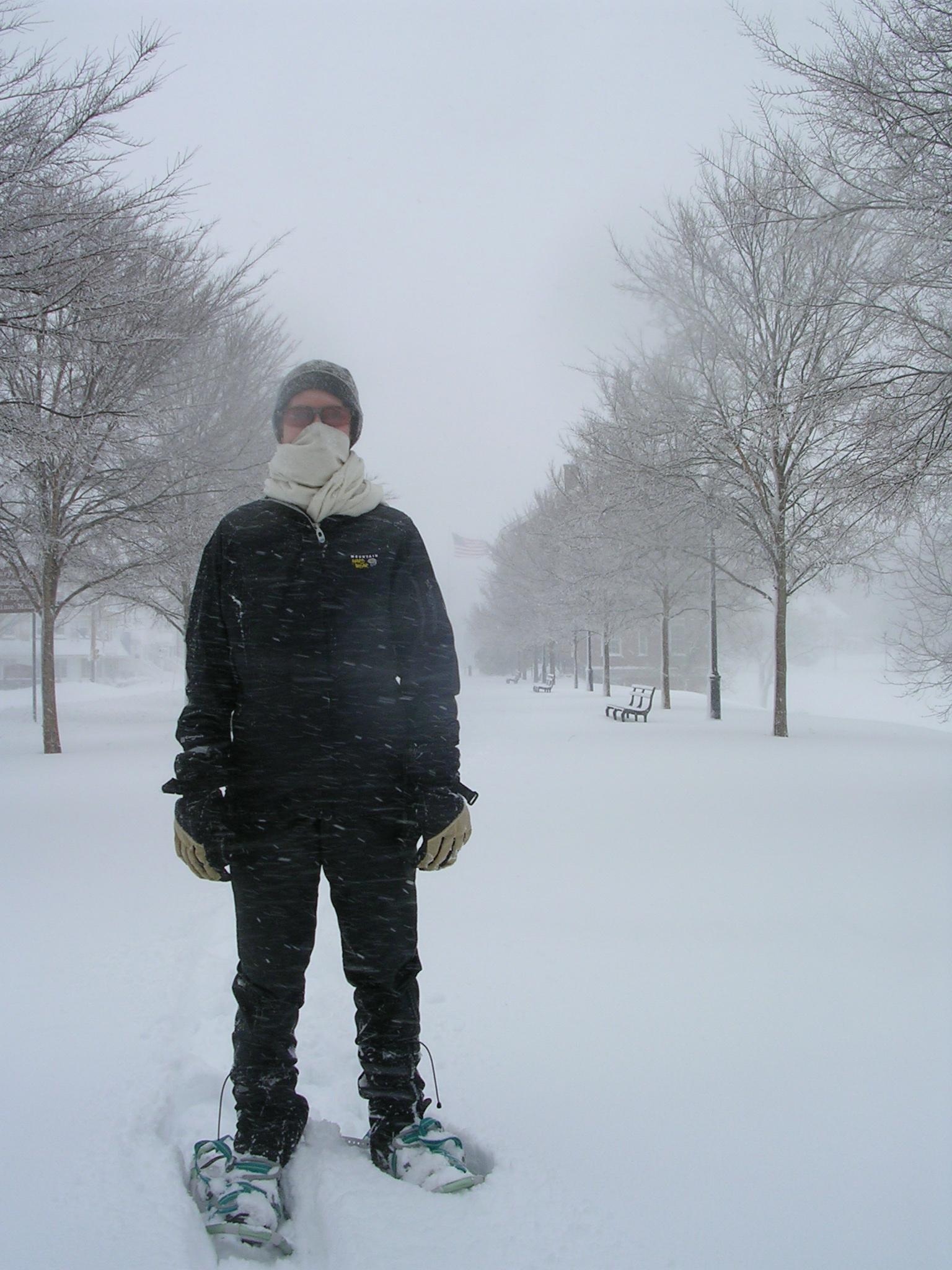 Snow ninja! Wrong color, honey...