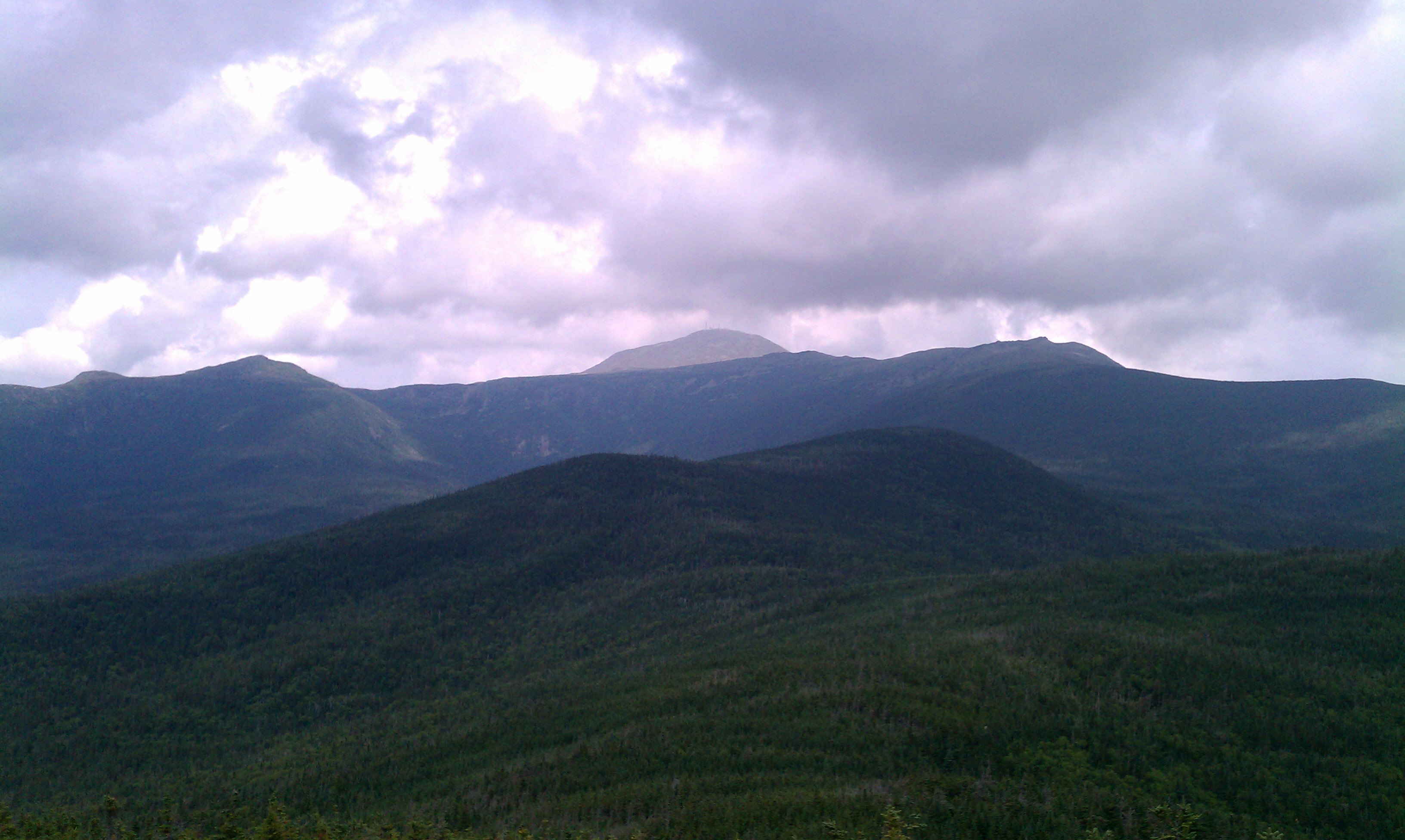 View of Mt. Washington from Mt. Isolation