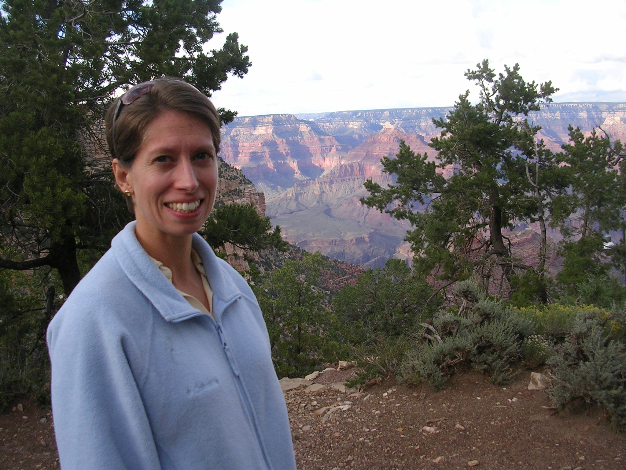 Susan at Grand Canyon