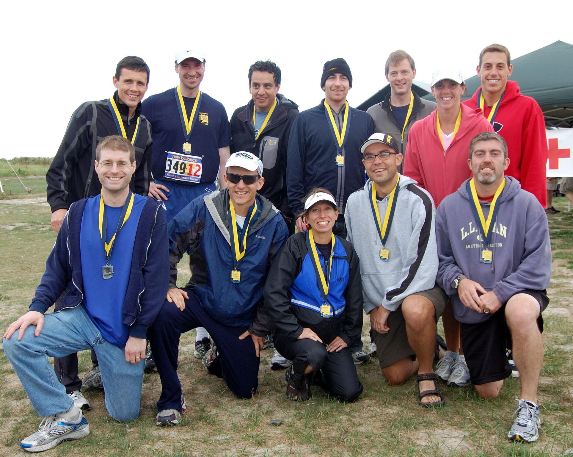 Team NEEP at the finish